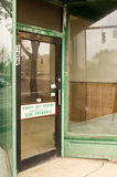 Old Vacant Storefront Stock Photography