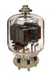 Old vacuum powerful electronic radio tube. Isolated on white background Royalty Free Stock Photos