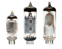 Old vacuum radio tubes Stock Image