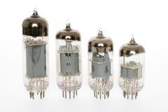 Old vacuum tubes. On white background Royalty Free Stock Images