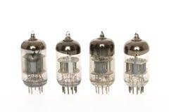 Old vacuum tubes. On white background Royalty Free Stock Image