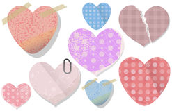 Old Valentine Sticker Heart Vector Stock Images