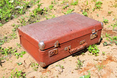 Old valise Stock Images
