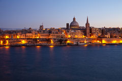 Old Valletta in dusk Royalty Free Stock Photo