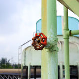 Old valve in factory plant Royalty Free Stock Images