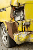 The old van car be Tire leak Royalty Free Stock Images