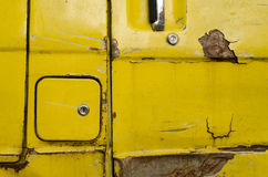 The old van car closeup Royalty Free Stock Image
