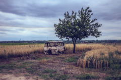 Old Van Royalty Free Stock Photography