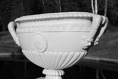Old vase. Black and white. Royalty Free Stock Photos