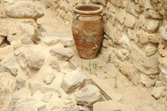 Old vase in Knossos Stock Image