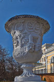 Old vase in the  park. Royalty Free Stock Images