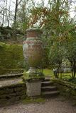 Old Vase In The Sacred Wood Bomarzo Italy Stock Photos
