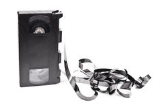 Old VCR tape. On white Royalty Free Stock Photography
