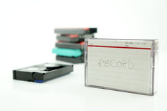 Old VCR tape record. Retro recorder Royalty Free Stock Image