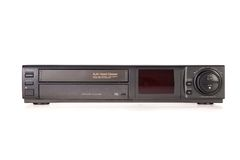 Old VCR, Video Cassette Recorder Stock Photos