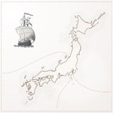 Old vector Japan map Stock Image