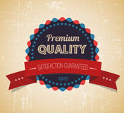 Old vector round retro vintage grunge label Stock Photography
