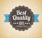 Old vector round retro vintage grunge label Royalty Free Stock Photography