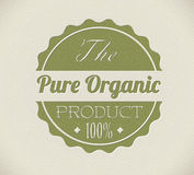 Old vector round retro vintage organic label Stock Images