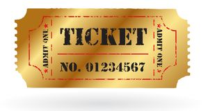 Old Vector vintage paper ticket with number Royalty Free Stock Photos