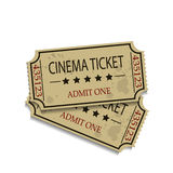 Old Vector vintage paper tickets Royalty Free Stock Photos
