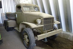 An old vehicle on display at whitehorse. Royalty Free Stock Photography