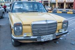 Old vehicle parking on Sheraton street. Hurghada Royalty Free Stock Photos