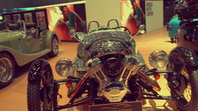 Old vehicles, vintage cars exhibition, retro car competition, stock video