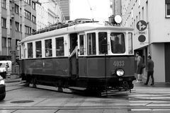 Old Veinnese Tram Royalty Free Stock Image