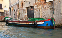 Old Venetian boat Stock Images