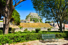 The old venetian citadel in Corfu town Stock Image