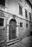 Old Venetian door black and white Royalty Free Stock Photo