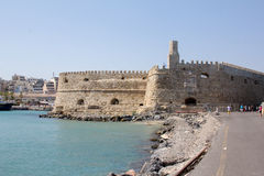 The old Venetian fortress in the city of Heraklion in Crete. Royalty Free Stock Photos