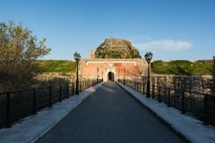 The Old Venetian Fortress in Kerkyra, Corfu island, Greece.  royalty free stock image