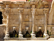 Old venetian fountain in city of Rethymno Stock Photography