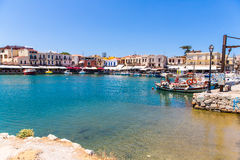 Old  venetian harbor in Rethymno, Crete Royalty Free Stock Photography