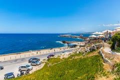 Old  venetian harbor in Rethymno, Crete Royalty Free Stock Photos