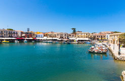 Old  venetian harbor in Rethymno, Crete Stock Photo