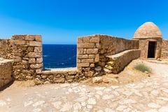 Old  venetian harbor in Rethymno, Crete Stock Photography