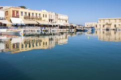 Old Venetian Harbor in Rethymno on Crete Royalty Free Stock Photos