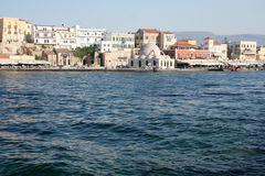 Old Venetian harbour in Chania Stock Photography