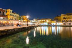 Old Venetian harbour of Chania Royalty Free Stock Photos