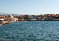 Old Venetian harbour in Chania. Crete Stock Photography