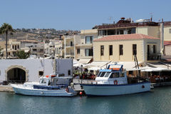 Old Venetian harbour in city of Rethymno Royalty Free Stock Images