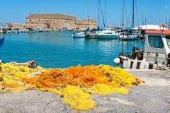 Old Venetian harbour. Crete, Greece Stock Photography