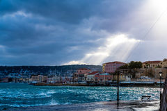 Old Venetian Harbour lchania Stock Image