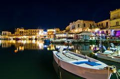 Old Venetian harbour at Rhetymno Royalty Free Stock Photography