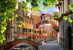 Old venetian houses Royalty Free Stock Photos