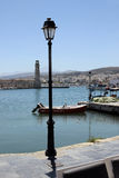 Old venetian lighthouse in Rethymno Royalty Free Stock Image