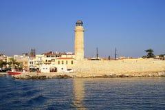 Old venetian lighthouse, Rethymno, Crete, Greece Stock Photo